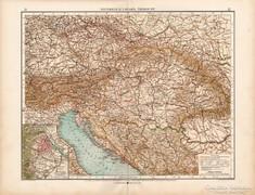 Osztrák - Magyar Monarchia térkép 1904, eredeti, német