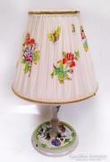Viktória mintás Herendi asztali lámpa ajándék hamutállal
