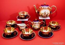 Zsolnay teáskészlet 6 személyes antik darab