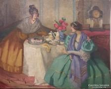 Klammer Mariska: Beszélgető hölgyek