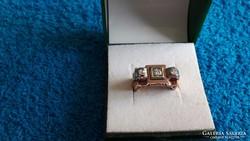 Antik gyönyörű női gyémánt pecsétgyűrű!