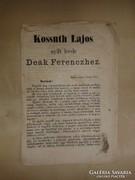 Kossuth Lajos nyílt levele Deák Ferenczhez. 1867 május 22