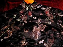 Kínai selyem sárkánymintás ruha 44  méret