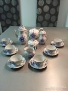 Herendi  kék Nanking bouquet mintás kávés készlet