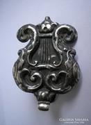 Antik ezüst biedermeier kulcstartó