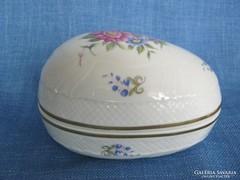 Hollóházi porcelán bonbonier hajnalka mintás nagyobb méret