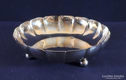 Art-deco ezüst kínáló tál, kitűnő állapotban