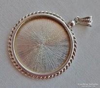 Ritka antik nagy csavaros fényképtartós medál