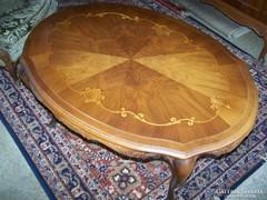 Chippendale intarzia mintás  asztal