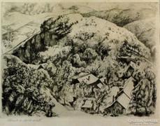 """Szőnyi István : """"Házak a domb alatt"""" 1926"""