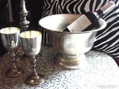 Ezüstözött pezsgős vödör v. kaspó