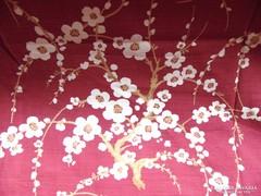 2 db csodaszép virágos bíborszín sötétítő függöny
