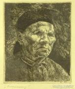 """0L480 Szőnyi István : """"Öregasszony"""" 1922"""