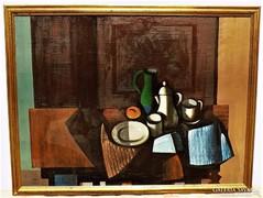 Bótos Sándor (1921-1997) Csendélet 87x67cm olajfestménye