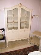 Warrings törtfehér vitrines szekrény 114x185x48cm