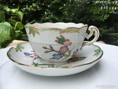 Herendi antik nagy teás aljjal  1900 körül