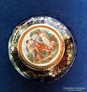 Szép antik kóbalt kék porcelán bonbonier Altwien jelzéssel !