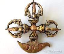Kínai  bronz buddhista vagy taoista Eszköz Vadzsra ax