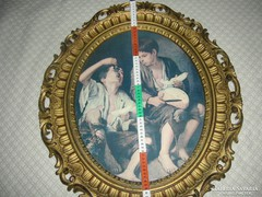 Barokk kép vagy tükör keret  nyomattal