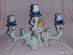 3 ágú porcelán angyalkás gyertyatartó (p)