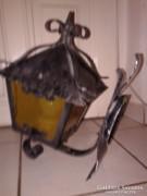 fali kovácsoltvas lámpa, 39 cm vas falikar kültéri