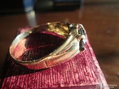 0,45 karátos, fekete gyémántköves női gyűrű