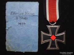 Német 2.VH 2.o Vaskereszt EK2 L / 15 Otto Schickle