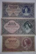 500,1000,10000,pengő bélyeg nélkül ,nagyon szép bankjegyek!