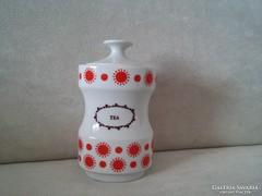 Alföldi Porcelán Piros Pöttyös Tea tartó