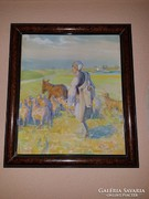 Hódi Géza akvarell