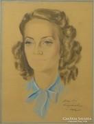 0L876 Faragó Ferenc : Női portré 1942