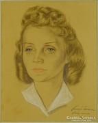 0L877 Faragó Ferenc : Női portré 1942