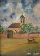 0L893 Ismeretlen festő : Templom előtt
