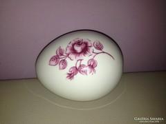 Hollóházi rózsamintás tojás bonbonier / gyűrűtartó