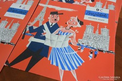 40db-os francia rerto nyelvoktató bakelit kislemez csomag