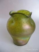 Antik, szecessziós üvegváza (Loetz, vagy Heckert)