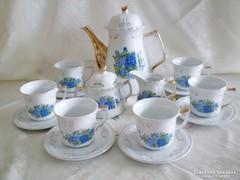 Aranyozott rózsamintás teás/kávés készlet Angol porcelán