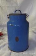 Antik kék zománcos tejes kanna 7 literes ritka !!!!!