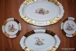BERNADOTTE CZECHOSLOVAKIA 4 darabos porcelán tányér szett