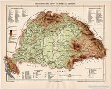 Magyarország hegy- és vízrajzi térkép 1897 II., eredeti
