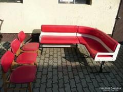 Eredeti retro sarok garnitúra + 3 szék 1960-ból