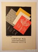 Reklámlap Vadász Endre fametszetével, 1936