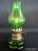 Mini zöld üveg petróleumlámpa