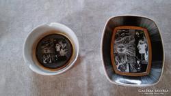Szász Endre porcelán asztalközép és  hamutál