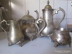 Empir teás és kávés  készlet csodás kézzel véset antik tárgy