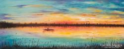 Ég és víz fényei   Festmény