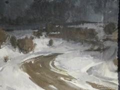 Miha Nándor (1950-es évek) : Téli táj