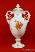 Herendi óriási 50 cm váza Apponyi fedeles.