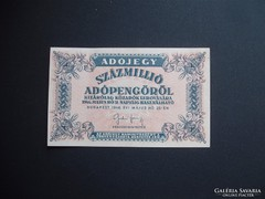 100 millió adópengő 1946 RITKA !!!