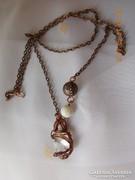 Magic Stone - Drótékszer, nyaklánc, medál - hegyi kristály